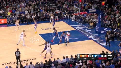 2019年12月11日NBA常规赛 掘金VS76人 全场录像回放视频