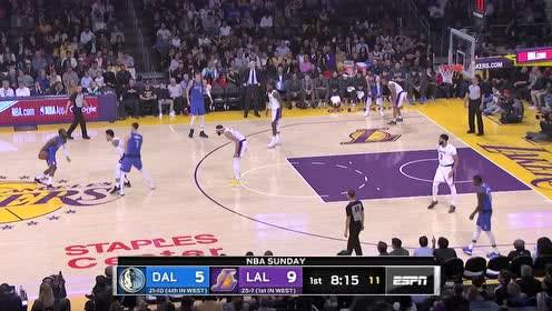 2019年12月30日NBA常规赛 独行侠VS湖人 全场录像回放视频