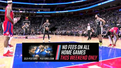 2019年12月02日NBA常规赛 马刺VS活塞 全场录像回放视频