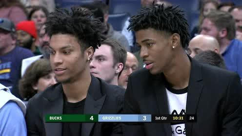 2019年12月14日NBA常规赛 雄鹿VS灰熊 全场录像回放视频