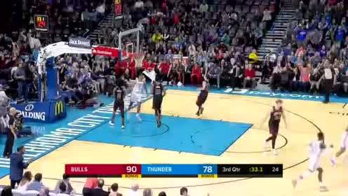 2019年12月17日NBA常规赛 公牛VS雷霆 全场录像回放视频