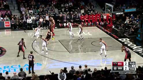 2019年12月02日NBA常规赛 热火VS篮网 全场录像回放视频