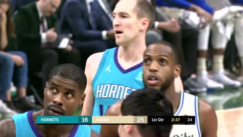 2019年12月01日NBA常规赛 黄蜂VS雄鹿 全场录像回放视频