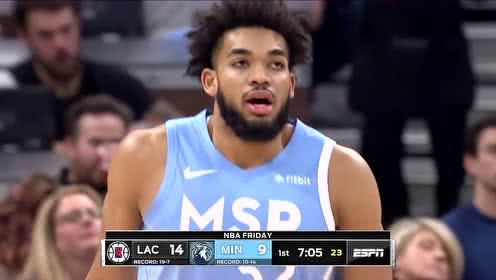 2019年12月14日NBA常规赛 快船VS森林狼 全场录像回放视频
