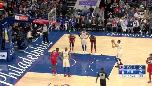 2019年12月22日NBA常规赛 奇才VS76人 全场录像回放视频