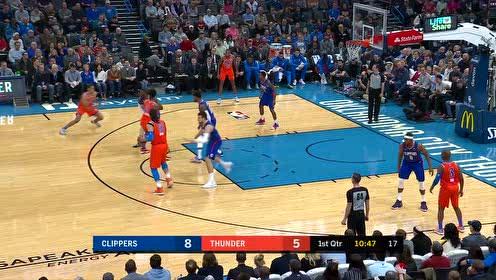 2019年12月23日NBA常规赛 快船VS雷霆 全场录像回放视频
