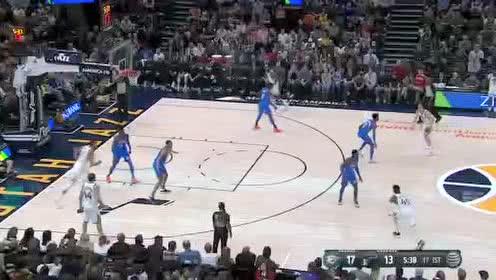 2019年12月10日NBA常规赛 雷霆VS爵士 全场录像回放视频