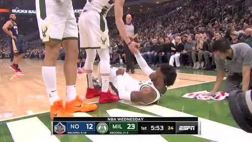 2019年12月12日NBA常规赛 鹈鹕VS雄鹿 全场录像回放视频