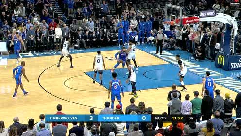 2019年12月07日NBA常规赛 森林狼VS雷霆 全场录像回放视频
