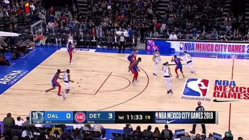 2019年12月13日NBA常规赛 独行侠VS活塞 全场录像回放视频