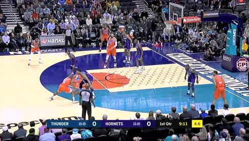 2019年12月28日NBA常规赛 雷霆VS黄蜂 全场录像回放视频