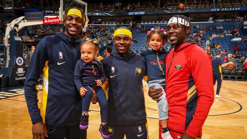 NBA历史性时刻!霍乐迪三兄弟同台竞技其乐融融