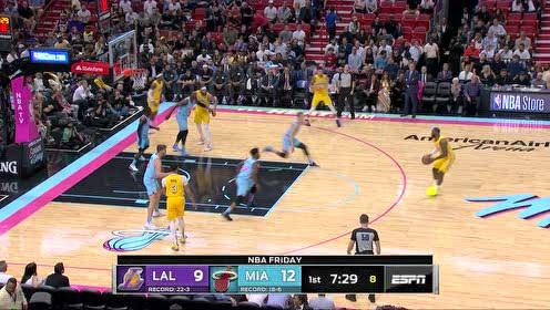 2019年12月14日NBA常规赛 湖人VS热火 全场录像回放视频