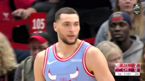 2019年12月29日NBA常规赛 老鹰VS公牛 全场录像回放视频