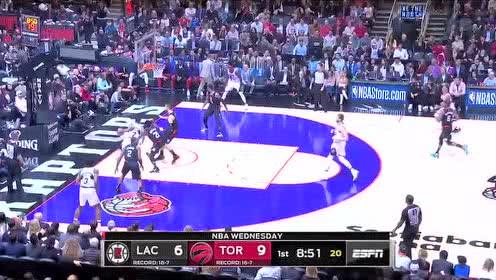 2019年12月12日NBA常规赛 快船VS猛龙 全场录像回放视频