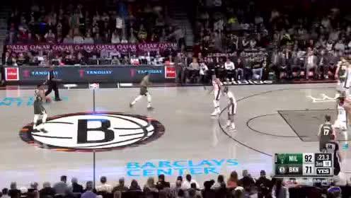 [原声回放]雄鹿vs篮网第3节 字母哥碾压篮网整条防线