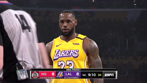 2020年01月04日NBA常规赛 鹈鹕VS湖人 全场录像回放视频