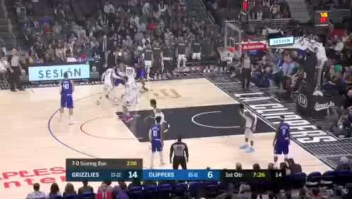 2020年01月05日NBA常规赛 灰熊VS快船 全场录像回放视频