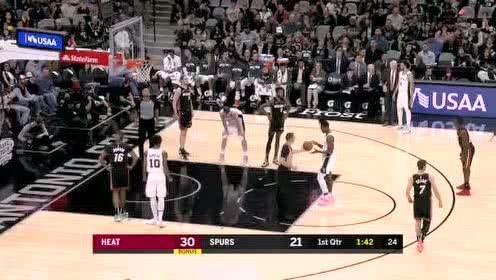 2020年01月20日NBA常规赛 热火VS马刺 全场录像回放视频