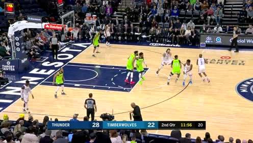 保罗带球过人内线出手 中距离投篮空心入网