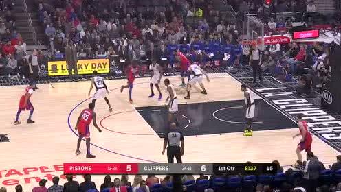 2020年01月03日NBA常规赛 活塞VS快船 全场录像回放视频