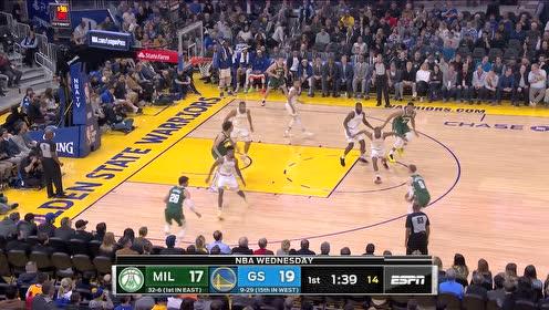2020年01月09日NBA常规赛 雄鹿VS勇士 全场录像回放视频