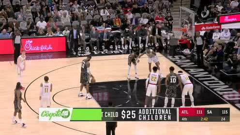 2020年01月18日NBA常规赛 老鹰VS马刺 全场录像回放视频