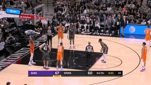 2020年01月25日NBA常规赛 太阳VS马刺 全场录像回放视频