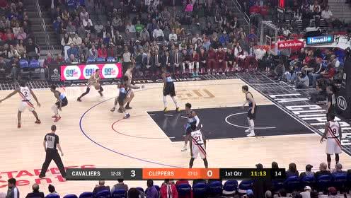 2020年01月15日NBA常规赛 骑士VS快船 全场录像回放视频