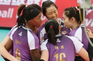 天津女排12冠王!朱婷获首个国内联赛冠军,上海女排得分王难救主