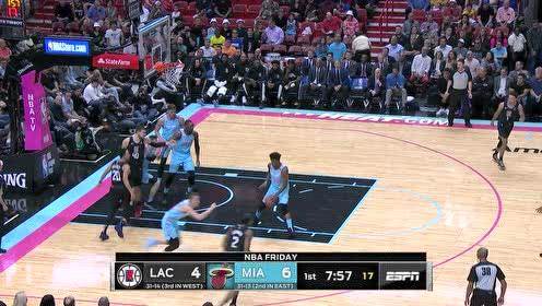 2020年01月25日NBA常规赛 快船VS热火 全场录像回放视频