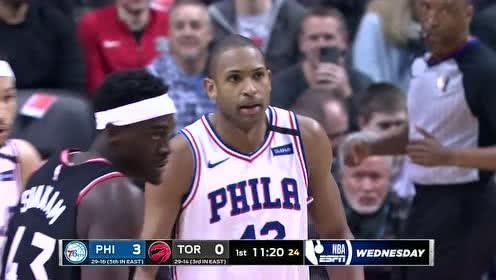 2020年01月23日NBA常规赛 76人VS猛龙 全场录像回放视频