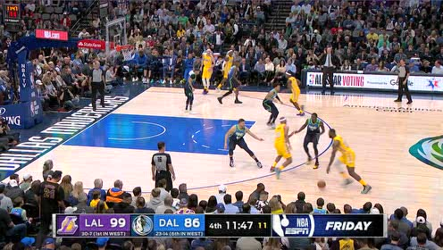 2020年01月11日NBA常规赛 湖人VS独行侠 全场录像回放视频
