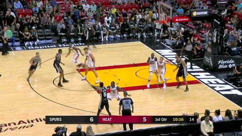 2020年01月16日NBA常规赛 马刺VS热火 全场录像回放视频