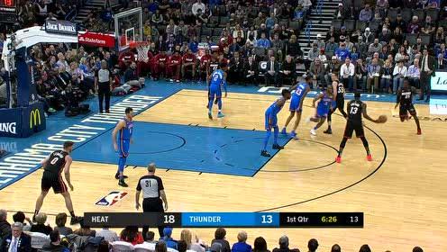 2020年01月18日NBA常规赛 热火VS雷霆 全场录像回放视频