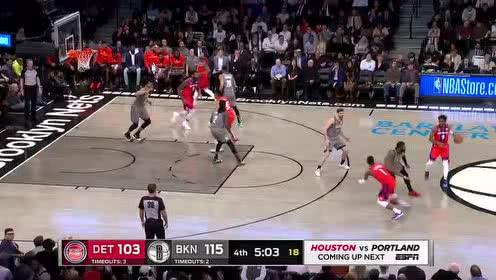 2020年01月30日NBA常规赛 活塞VS篮网 全场录像回放视频