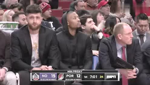 2020年02月22日NBA常规赛 鹈鹕VS开拓者 全场录像回放视频