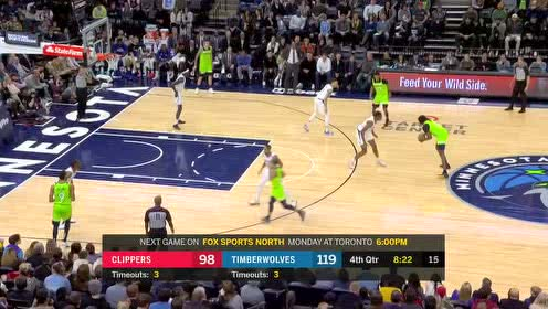 2020年02月09日NBA常规赛 快船VS森林狼 全场录像回放视频