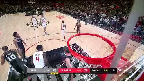 2020年02月04日NBA常规赛 马刺VS快船 全场录像回放视频