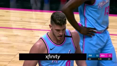 2020年02月04日NBA常规赛 76人VS热火 全场录像回放视频