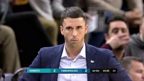 2020年02月13日NBA常规赛 黄蜂VS森林狼 全场录像回放视频
