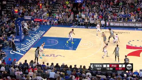2020年02月21日NBA常规赛 篮网VS76人 全场录像回放视频