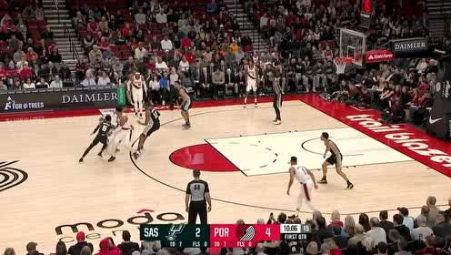2020年02月07日NBA常规赛 马刺VS开拓者 全场录像回放视频