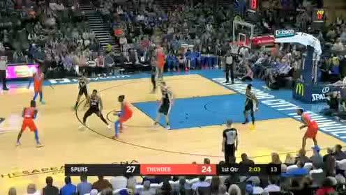 2020年02月24日NBA常规赛 马刺VS雷霆 全场录像回放视频