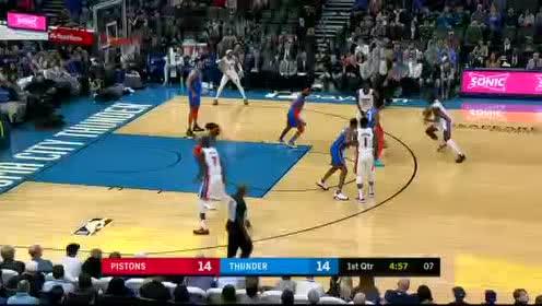 2020年02月08日NBA常规赛 活塞VS雷霆 全场录像回放视频