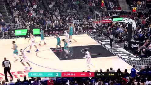 2020年02月25日NBA常规赛 灰熊VS快船 全场录像回放视频