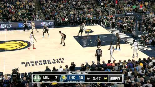 2020年02月13日NBA常规赛 雄鹿VS步行者 全场录像回放视频