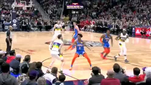 2020年02月14日NBA常规赛 雷霆VS鹈鹕 全场录像回放视频