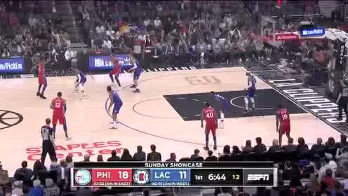 2020年03月02日NBA常规赛 76人VS快船 全场录像回放视频