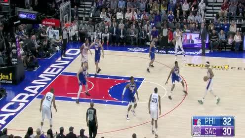 哈里斯集锦 28分14篮板长驱直入双手暴扣